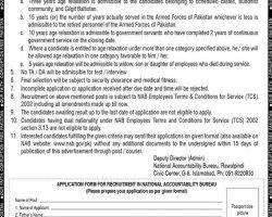 National Accountability Bureau NAB Rawalpindi Jobs 2019   www.nab.gov.pk