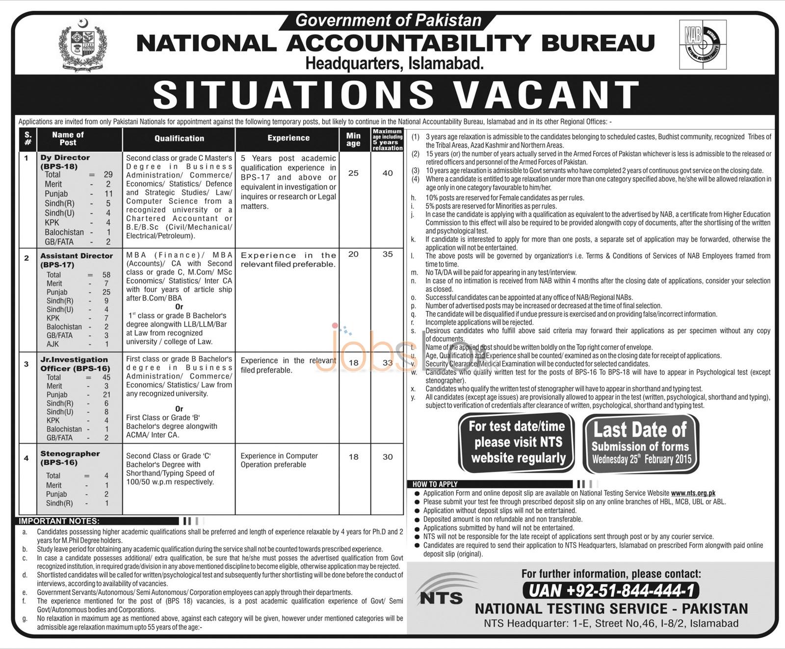 National Accountability Bureau Jobs