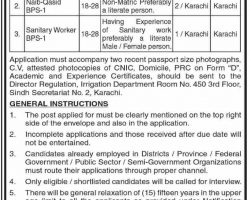 Irrigation Department Sindh Jobs 2019 Latest September Career Opportunities