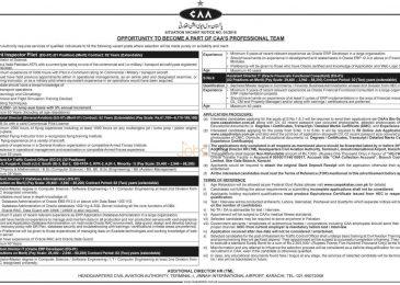 (CAA) Pakistan Civil Aviation Authority Jobs 2015 Flight Inspector Pilot
