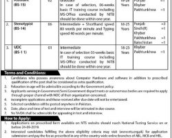 NTS Jobs 2019 in Ministry of Housing and Works Pakistan   Application Form