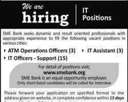 SME Bank Ltd Jobs 2019 Pakistan Application Form Download Latest Vacancies