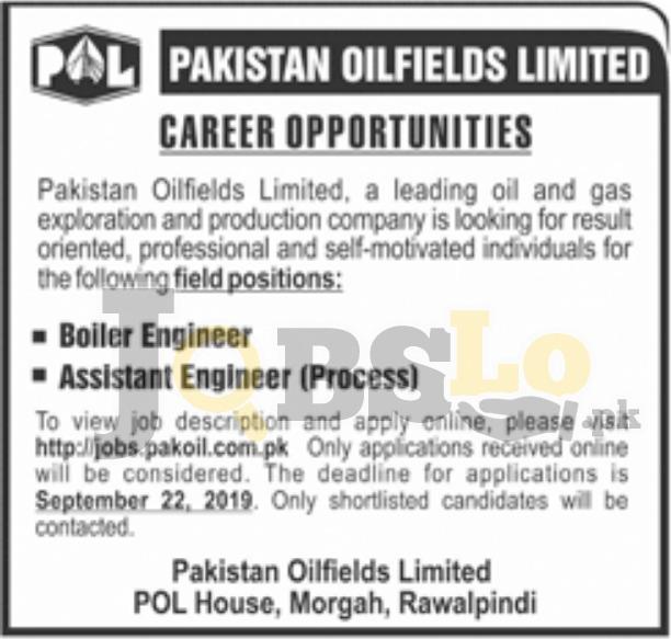Pakistan Oilfields Limited POL Jobs 2019 Apply Online Latest