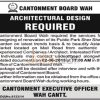 Cantonment Board Wah Cantt Jobs 2015 for Architectural Design