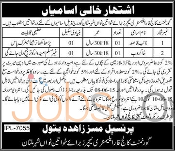 Government College For Elementary Teachers Multan Jobs