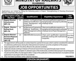 Ministry of Railways Jobs 2019 Govt of Pakistan Latest Current Openings