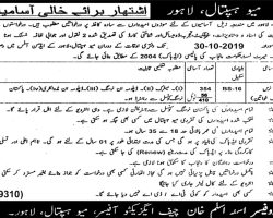 Mayo Hospital Lahore Jobs 2019 Latest Employment Opportunities