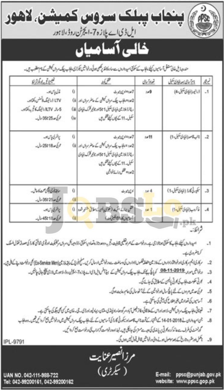 Punjab Public Service Commission PPSC Jobs 2019 For Driver, Naib Qasid Latest
