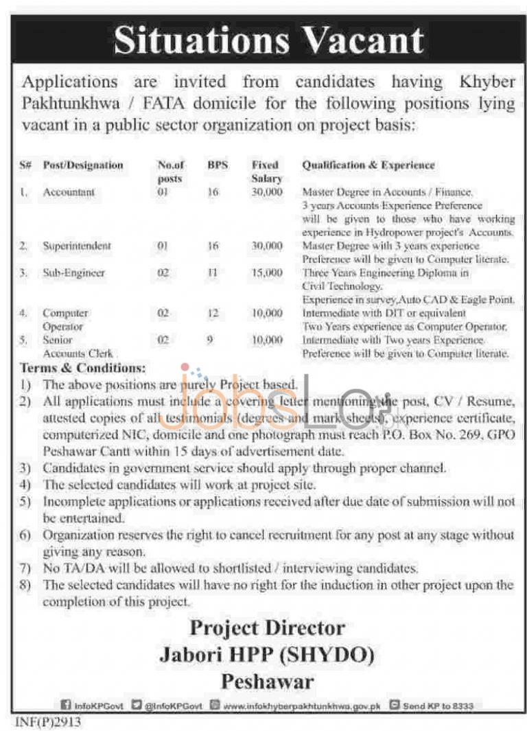 KPK Govt Jobs May 2015 Latest Advertisement