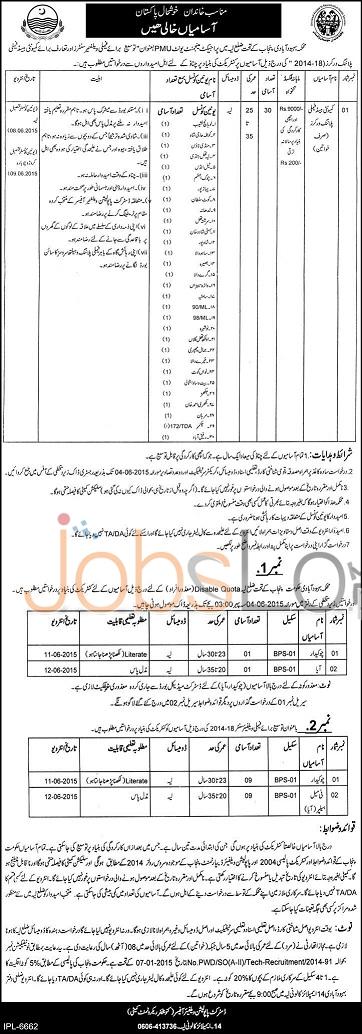 Population Welfare Department Punjab Jobs in Layyah 2015