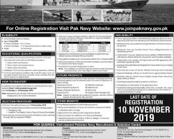 Join Pak Navy as PN Cadet 2020 A for Permanent Commission Online Registration Latest
