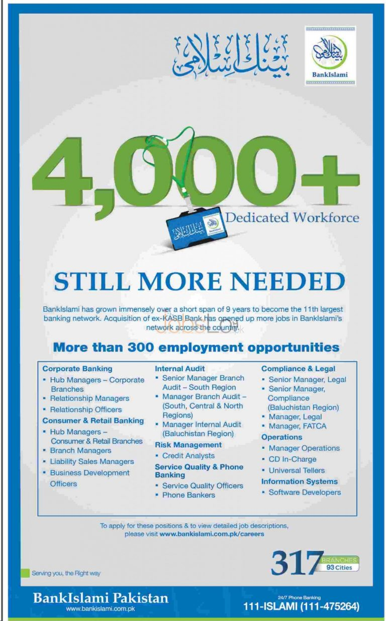 Bank Islami Jobs 2015 More than 300 Employment Opportunities