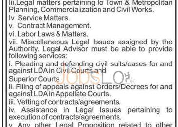 Lahore Development Authority LDA Jobs June 19 Latest Advertisement