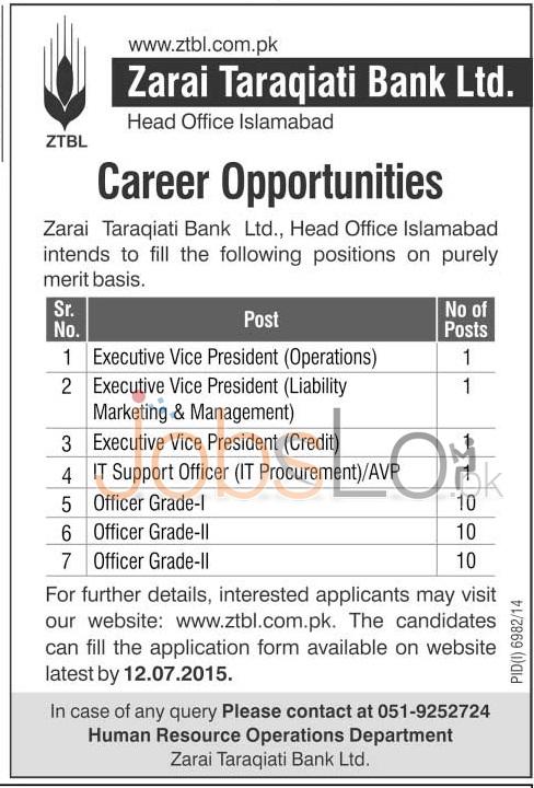 ZTBL Jobs