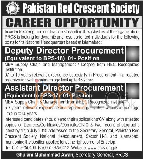 PRCS Jobs