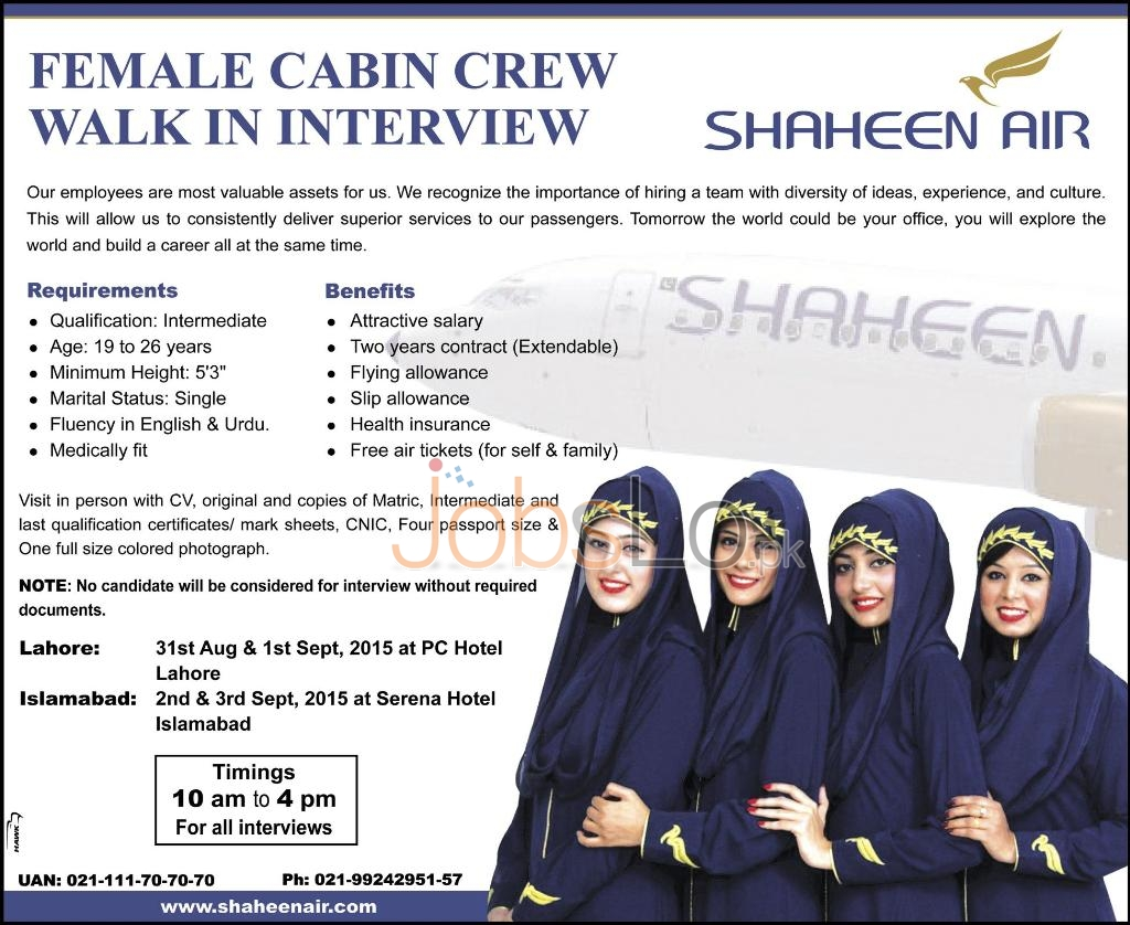 Shaheen Air Jobs