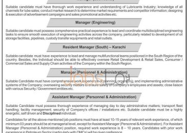 Attock Petroleum Limited Jobs 2015 Career Opportunities Latest