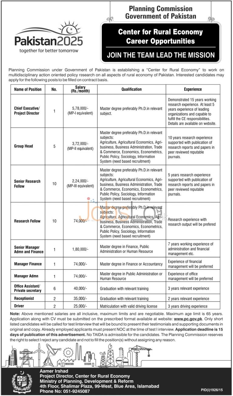 Planning Commission Jobs 2015 Application Form & Last Date to Apply