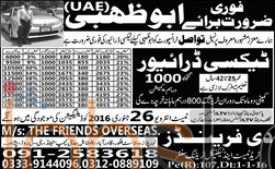 Tawasil Transport jobs in UAE for Taxi Driver 2016
