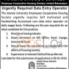 Islamia University of Bahawalpur Jobs for Data Entry Operator 15th January 2016