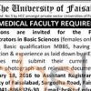 The University of Faisalabad Jobs for Medical Staff as Demonstrator 2016 Faisalabad