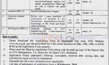 FBISE Jobs in Sindh, Punjab, Khyber Pakhtunkhawa 30th January 2016 Latest Advertisement