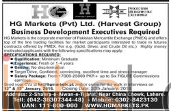 Career Opportunities in Harvest Group Private Limited
