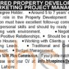 Property Development Marketing Jobs Lahore 2016 for Marketing Project Manager