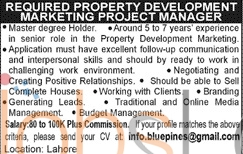 Property Development Marketing 2016 Jobs in Lahore