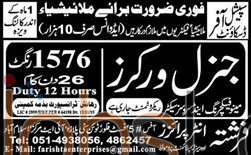 Genral Workers Required in Malaysia 2016