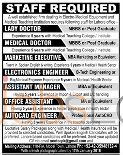 Vacancy Announcement in Medical Teaching  Institution
