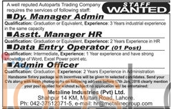 Auto parts Trading Company 13th Jnauary 2016 Jobs