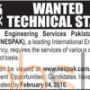 National Engineering Services Pakistan Pvt Limited Jobs 2016 for Technical Staff