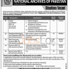 National Archives of Pakistan Jobs January 2016 Career Opportunities