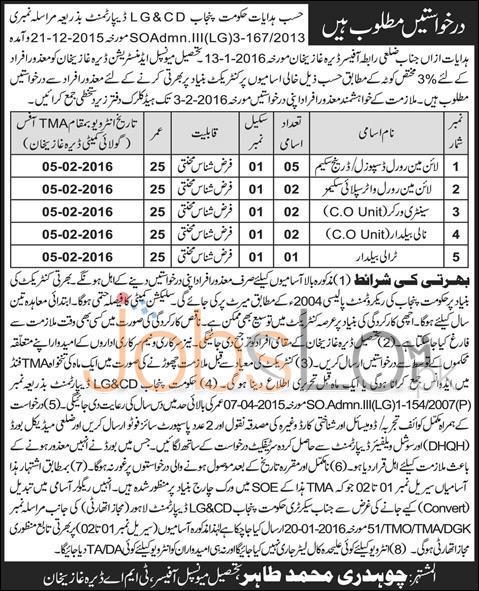 Local Government & Community Development DG Khan 27th Jan 2016