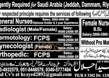 Urgent Jobs in Saudi Arabia for Gynecologist and General Nurses 2016