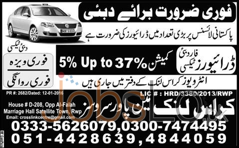 Situations Vacant in Dubai 2016 for Taxi Driver Career Opportunities