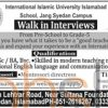 International Islamic University Jobs 2016 in Islamabad Walk In Interviews