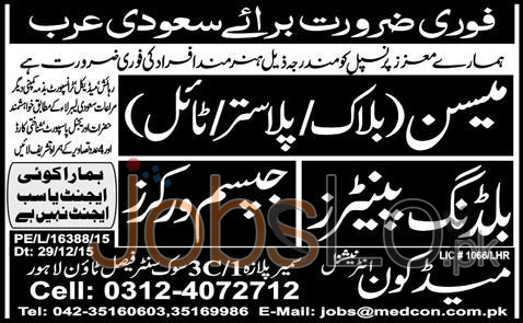 Situations Vacant in Saudi Arabia 2016 Career Opportunities