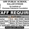 OPF Public School Kallar Syedan Jobs 2016 Staff Required