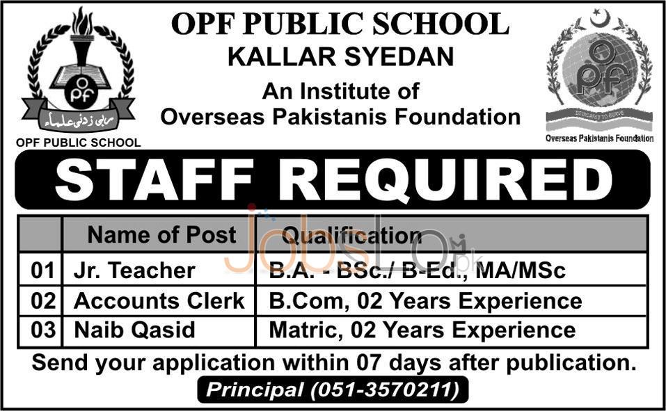 OPF Public Scool Jobs