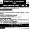 Punjab Skills Development Fund Jobs 08 March 2016 in Lahore Apply Online