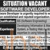 Software Developer Jobs March 2016 Latest Advertisement Last Date