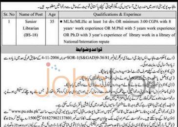University of Punjab Jobs 29 March 2016 Application Form www.pu.edu.pk
