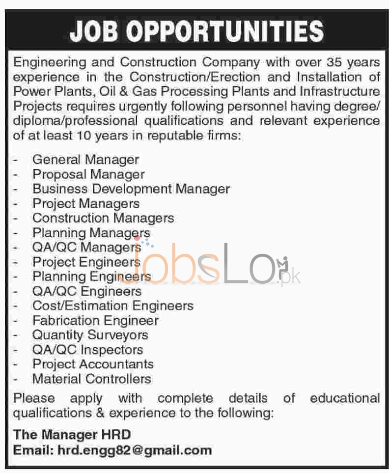 Engineering & Engineering & Construction Company Jobs
