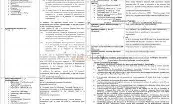 Abdul Wali Khan University Mardan Jobs April 2016 Application Form Download Online