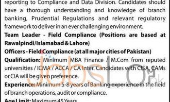 Askari Bank Ltd Jobs 2016 For Team Leader in Islamabad Rawalpindi & Lahore