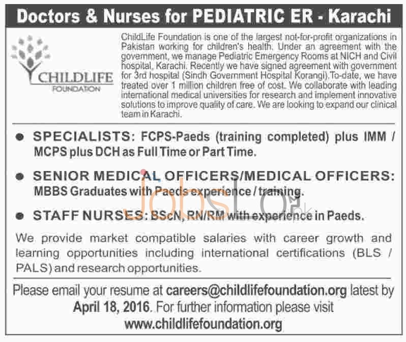 Childlife Foundation Jobs
