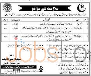 Civil Hospital Karachi Jobs April 2016 For Dental Surgeon Apply Online Last Date