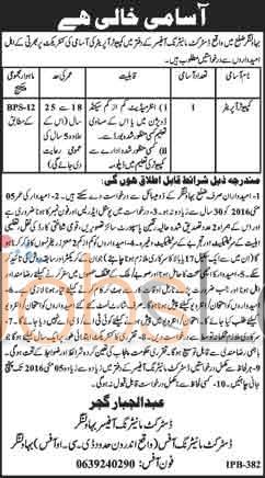 DMO Bahawalnagar Jobs